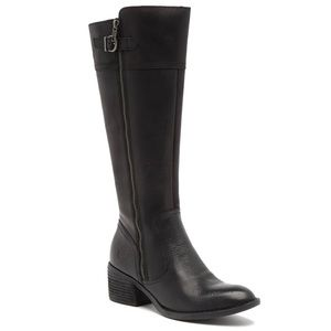 NEW Born Fannar Black Leather Knee High Boots 7